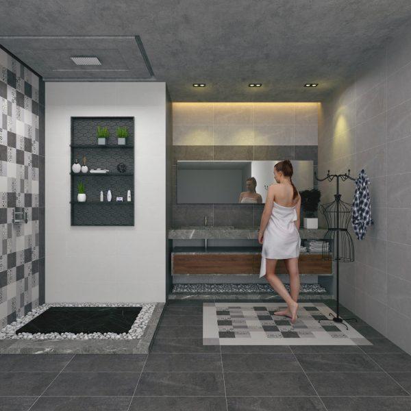 Gạch ốp lát nhà vệ sinh (300x600) mm GB-FS3614, GB-FS3615, GB-FS3616, GB-FS3615A